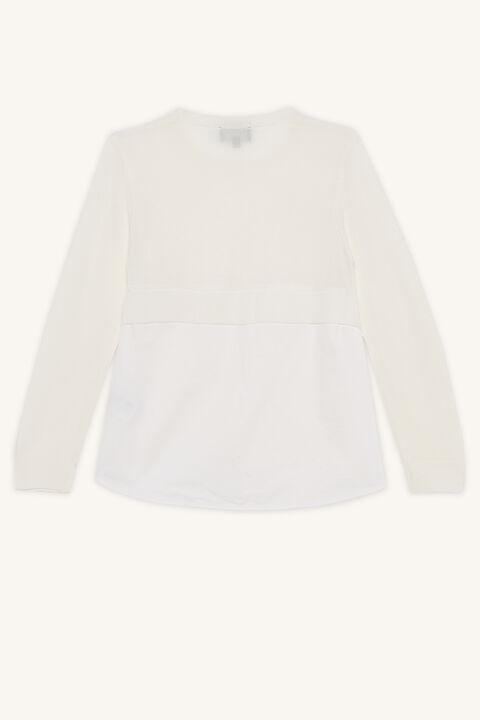 ELORA CARDIGAN in colour WHISPER WHITE