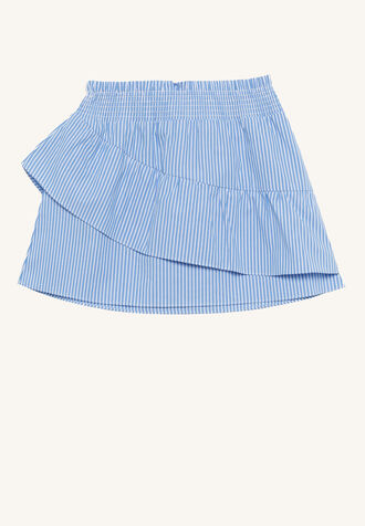KATIE SHIRRED SKIRT in colour DUTCH BLUE