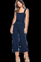 BUCKLE JUMPSUIT in colour DRESS BLUES