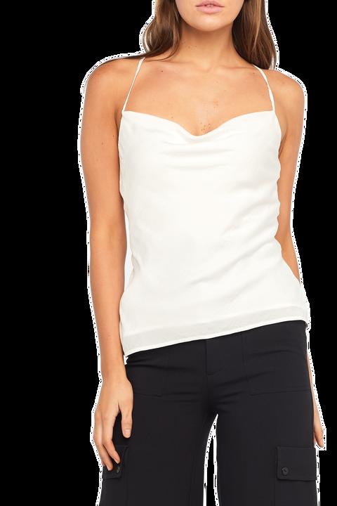 JULIA STRAP TOP in colour BRIGHT WHITE
