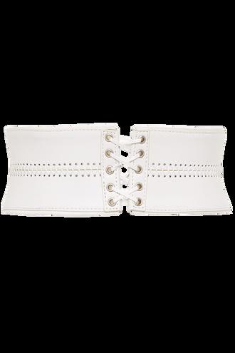 LACE CORSET WAIST BELT in colour WHITE ALYSSUM