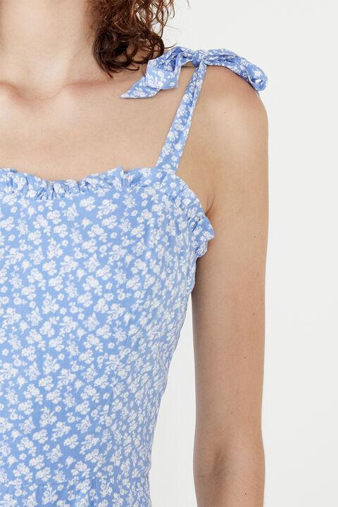DITSY MINI FLIP DRESS in colour ANDORRA