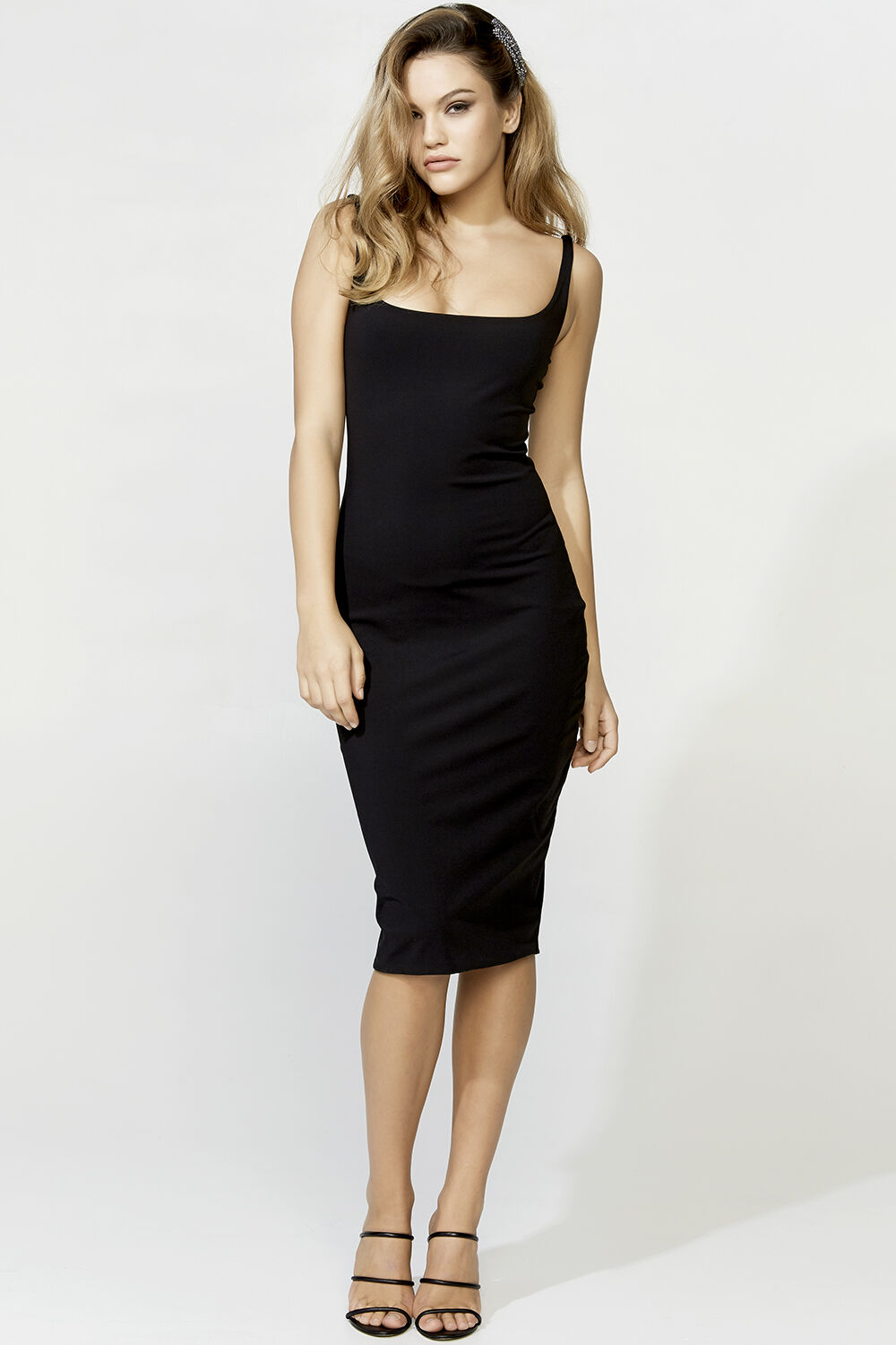 KENDAL DRESS in colour CAVIAR