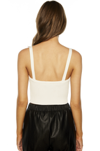 MILI CROP TANK TOP in colour CLOUD DANCER