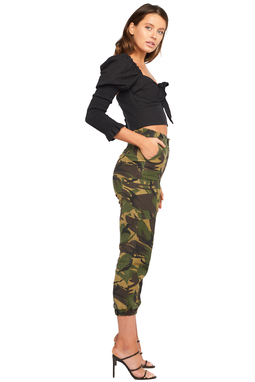 TIE FRONT TOP in colour CAVIAR