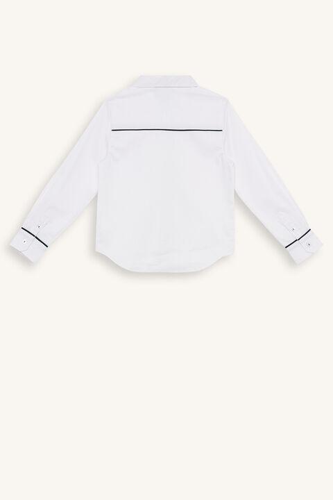 ADEN TRIM SHIRT in colour BRIGHT WHITE