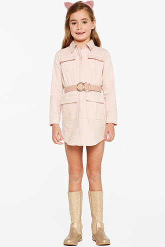 DARCY SHIRT DRESS in colour PRIMROSE PINK