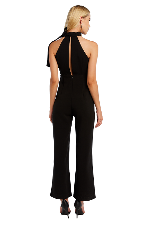 SLEEVELESS JUMPSUIT in colour CAVIAR