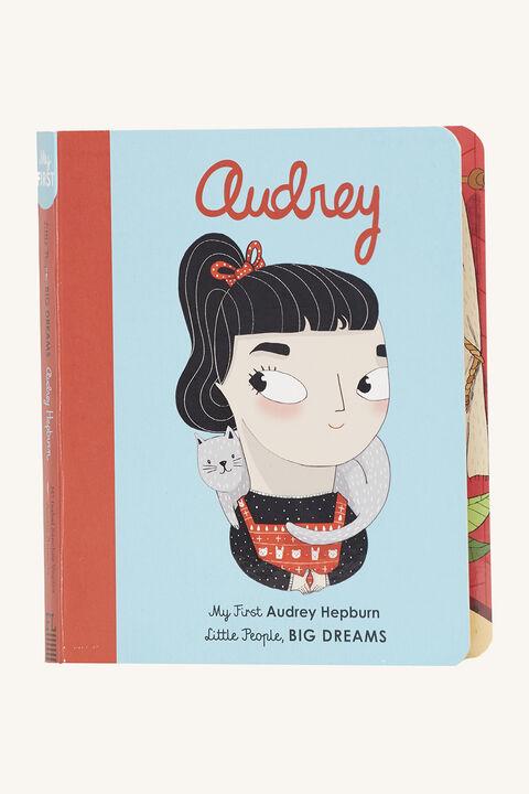 AUDREY  BOARD BOOK in colour BRIGHT WHITE
