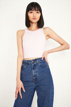 BRIA CROP TOP in colour BEETROOT PURPLE