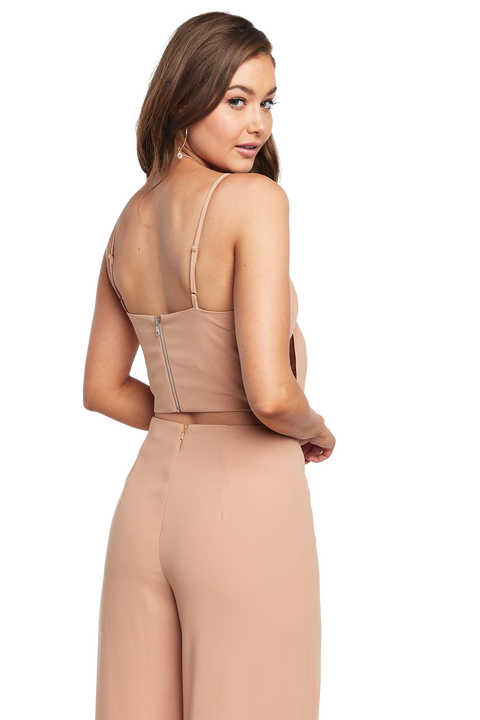 TRIXIE CROP TOP in colour ALMOND