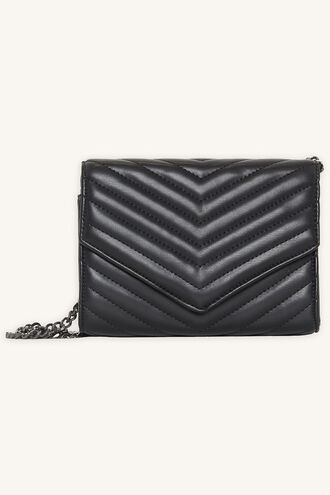 QUILTED CLUTCH BAG in colour METEORITE