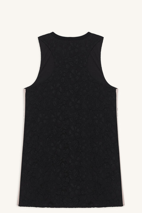 GIRL LACE DRESS in colour JET BLACK