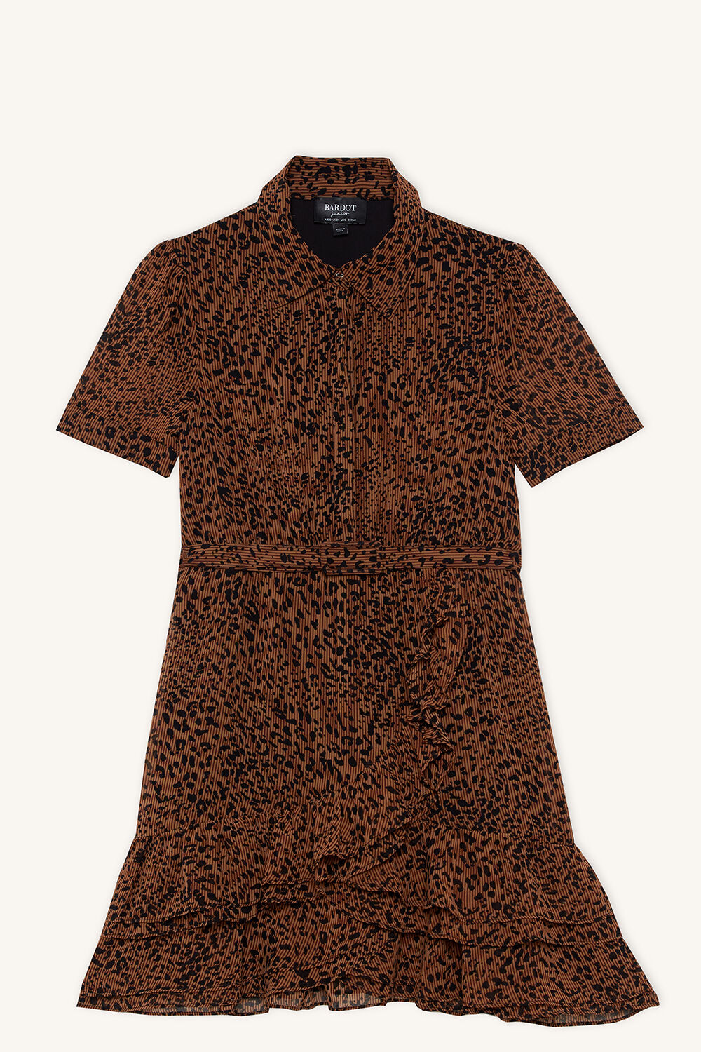 GRETTA SHIRT DRESS in colour TOBACCO BROWN