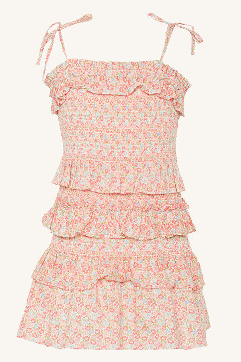 CASANDRA MINI DRESS in colour BUBBLEGUM