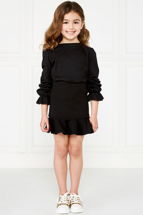 LIANA PONTI SKIRT in colour JET BLACK