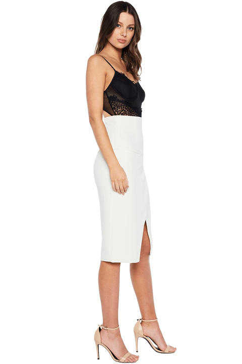 GEORGIE WRAP SKIRT in colour CLOUD DANCER