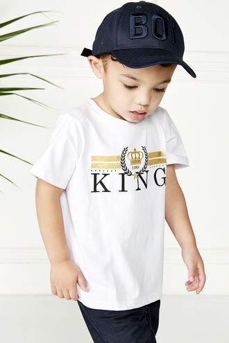 KING S/S TEE in colour BRIGHT WHITE