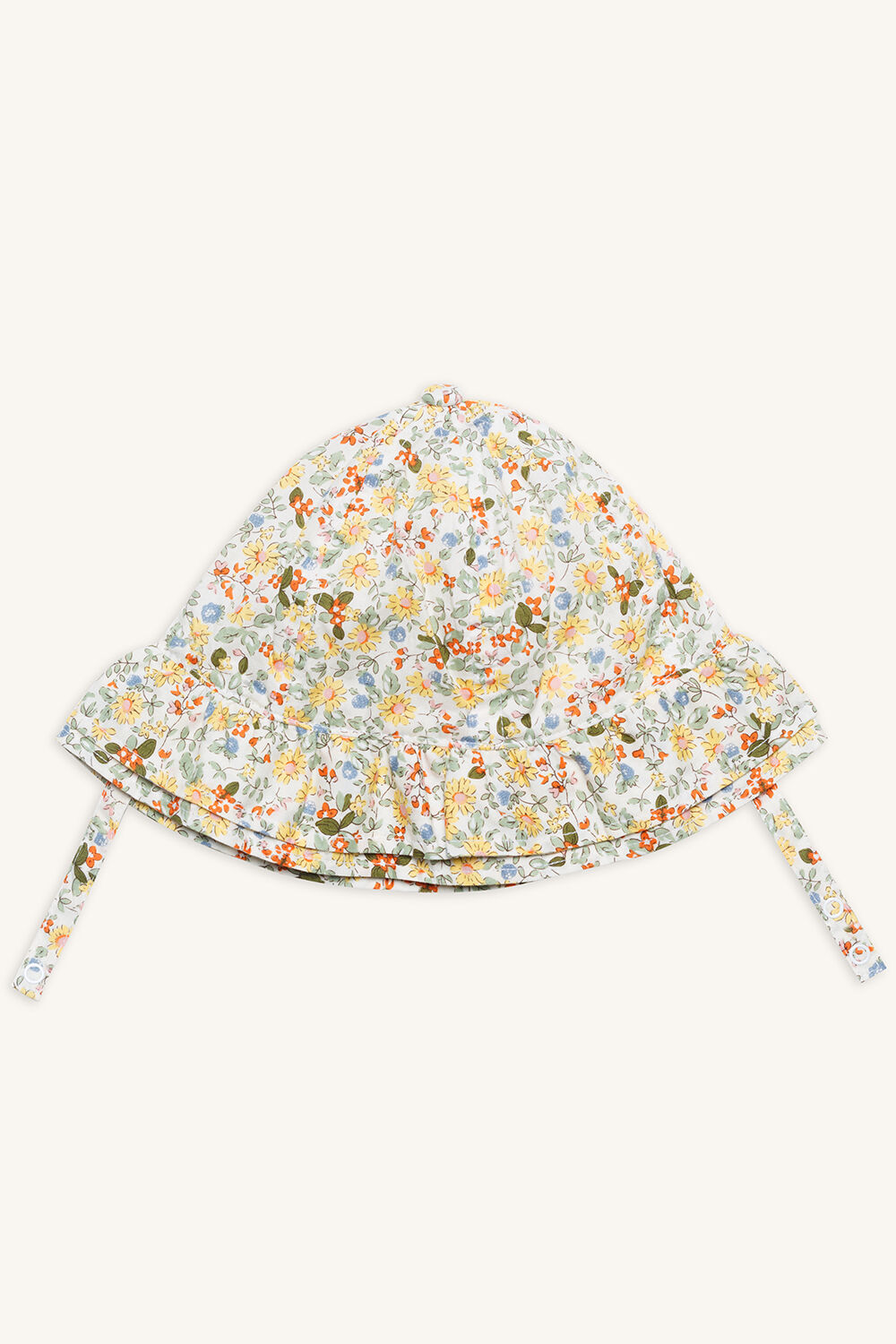 DITSY BABY BONNET in colour YELLOW CREAM aed5e3147b0