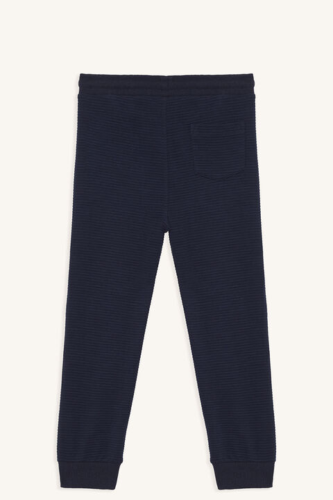 RIB TRACK PANT in colour MARITIME BLUE