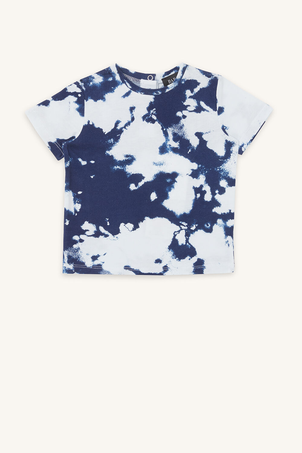 TIE DYE TEE in colour BLACK IRIS