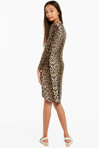 ALLEGRA TWIST DRESS in colour LATTE
