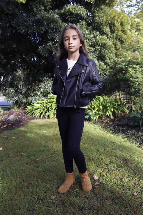 TWEEN GIRL KORA BIKER JACKET