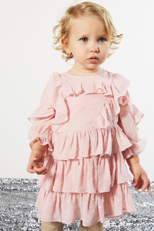 TAYLOR TIER DRESS in colour PRIMROSE PINK