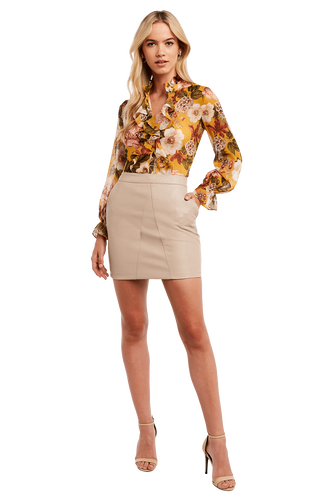 ROMANTIC BLOUSE in colour MISTED YELLOW