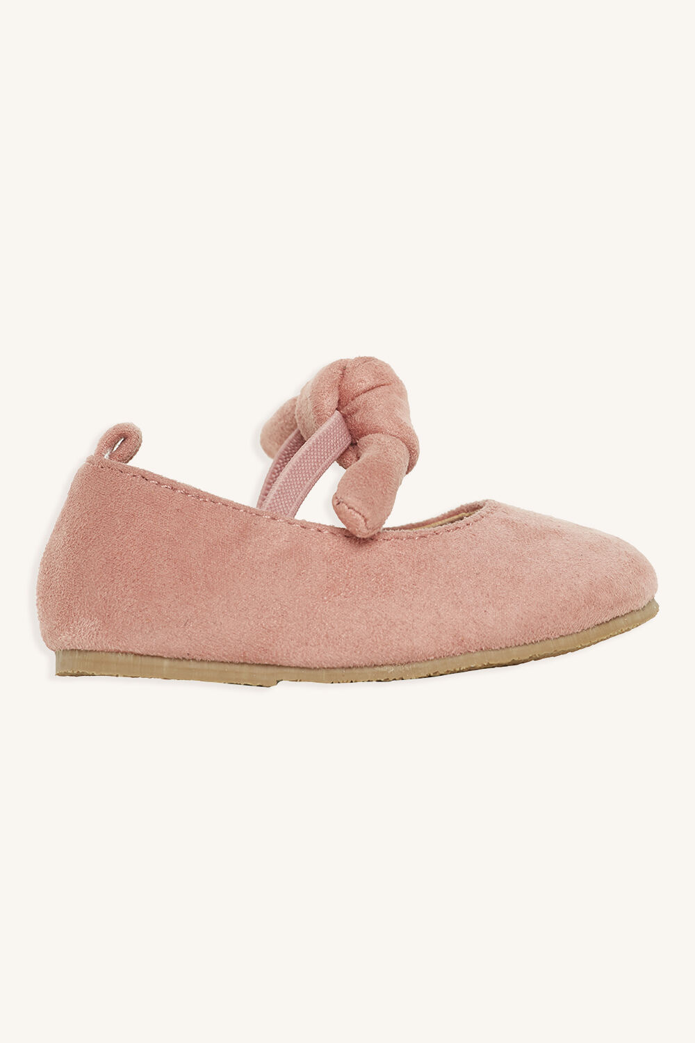 TODDLER KNOT BOW BALLET FLAT in colour PINK CARNATION