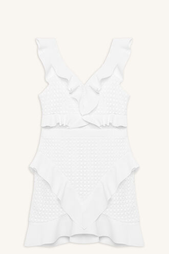 FAE LACE DRESS in colour SNOW WHITE