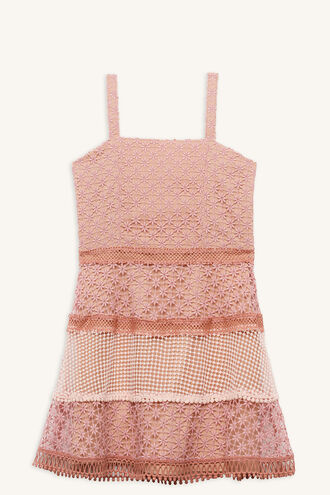 KRISTEN LACE DRESS in colour MELLOW ROSE