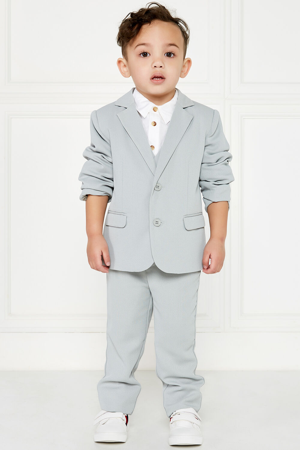 TEXTURED SUIT JACKET in colour FROST GRAY