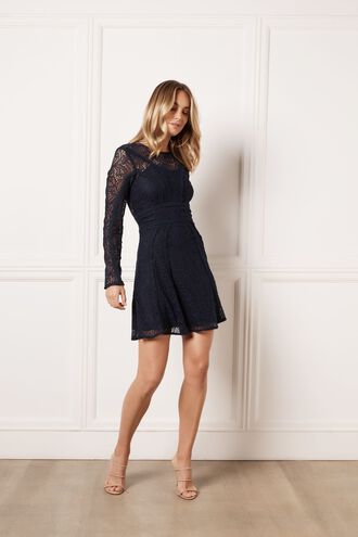 TIANA LACE DRESS in colour MARITIME BLUE