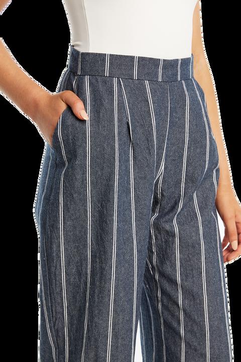 STRIPE CULOTTE PANT in colour MARITIME BLUE