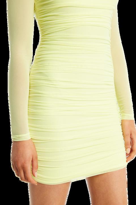 TASHA MESH DRESS in colour LIMELIGHT