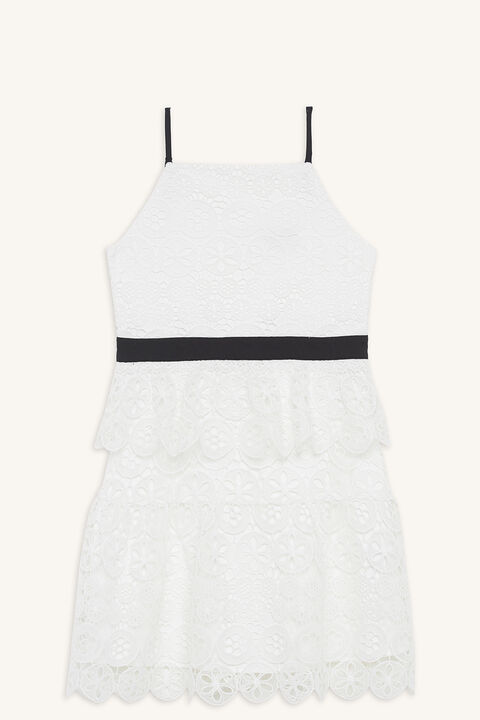 OLIVIA TIERED DRESS in colour CLOUD DANCER