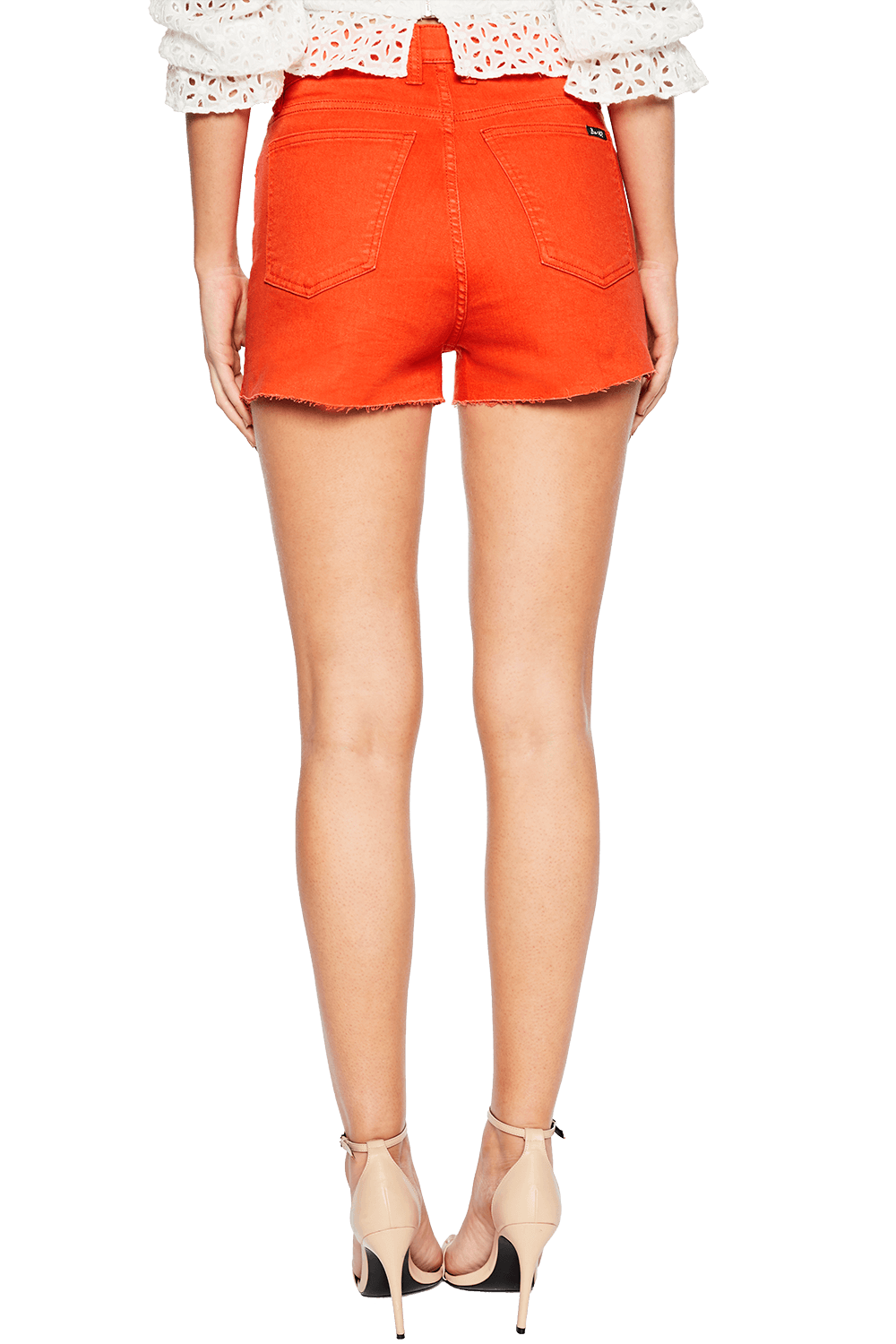 RIO DENIM SHORT in colour FLAME