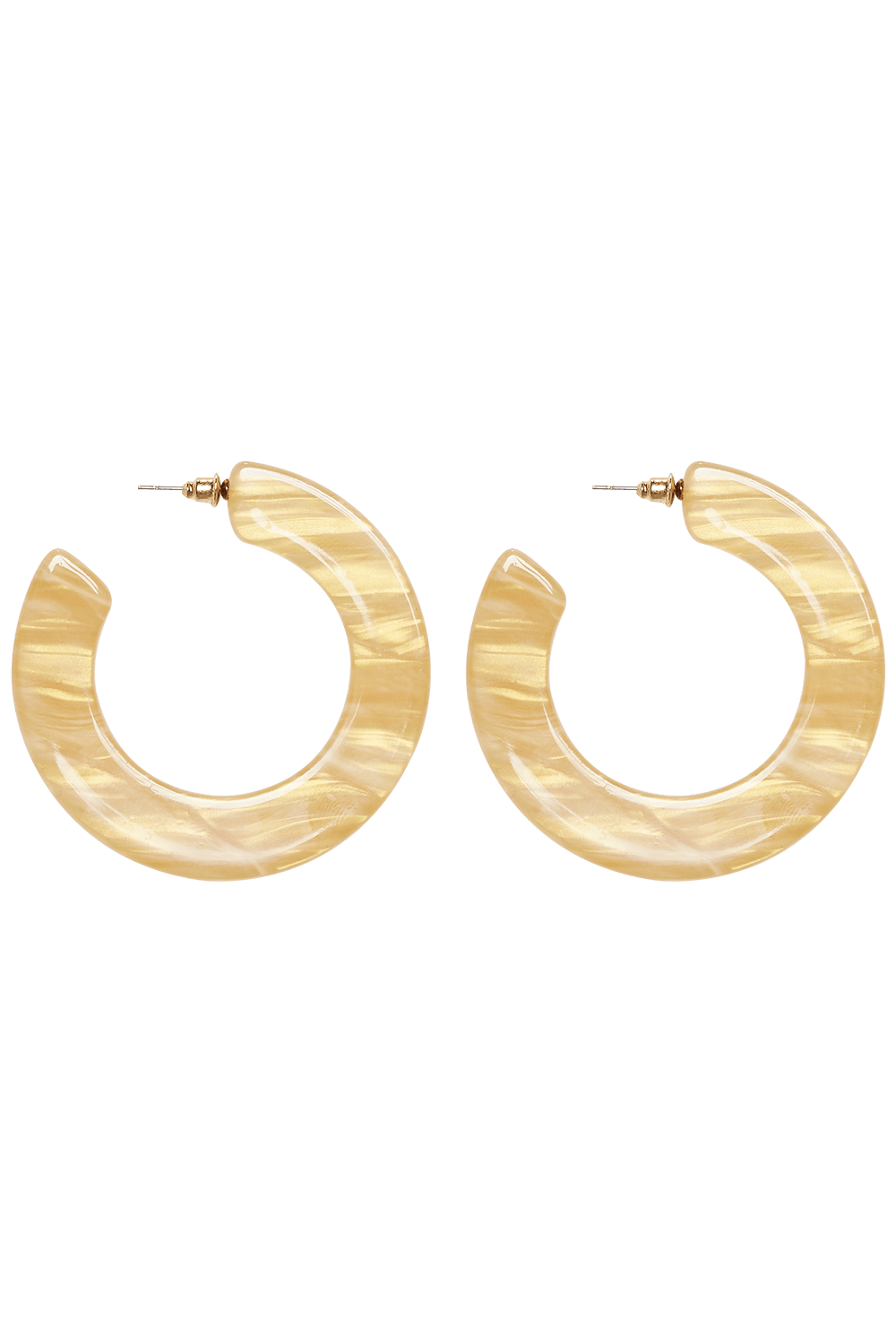 FLAT RESIN HOOPS in colour BRIGHT WHITE