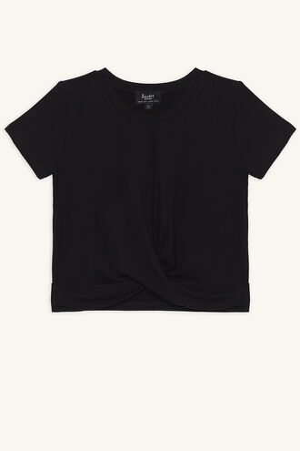 MILEY TWIST TEE in colour JET BLACK