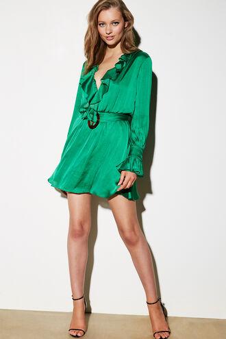 ALANNA MINI DRESS in colour CLASSIC GREEN