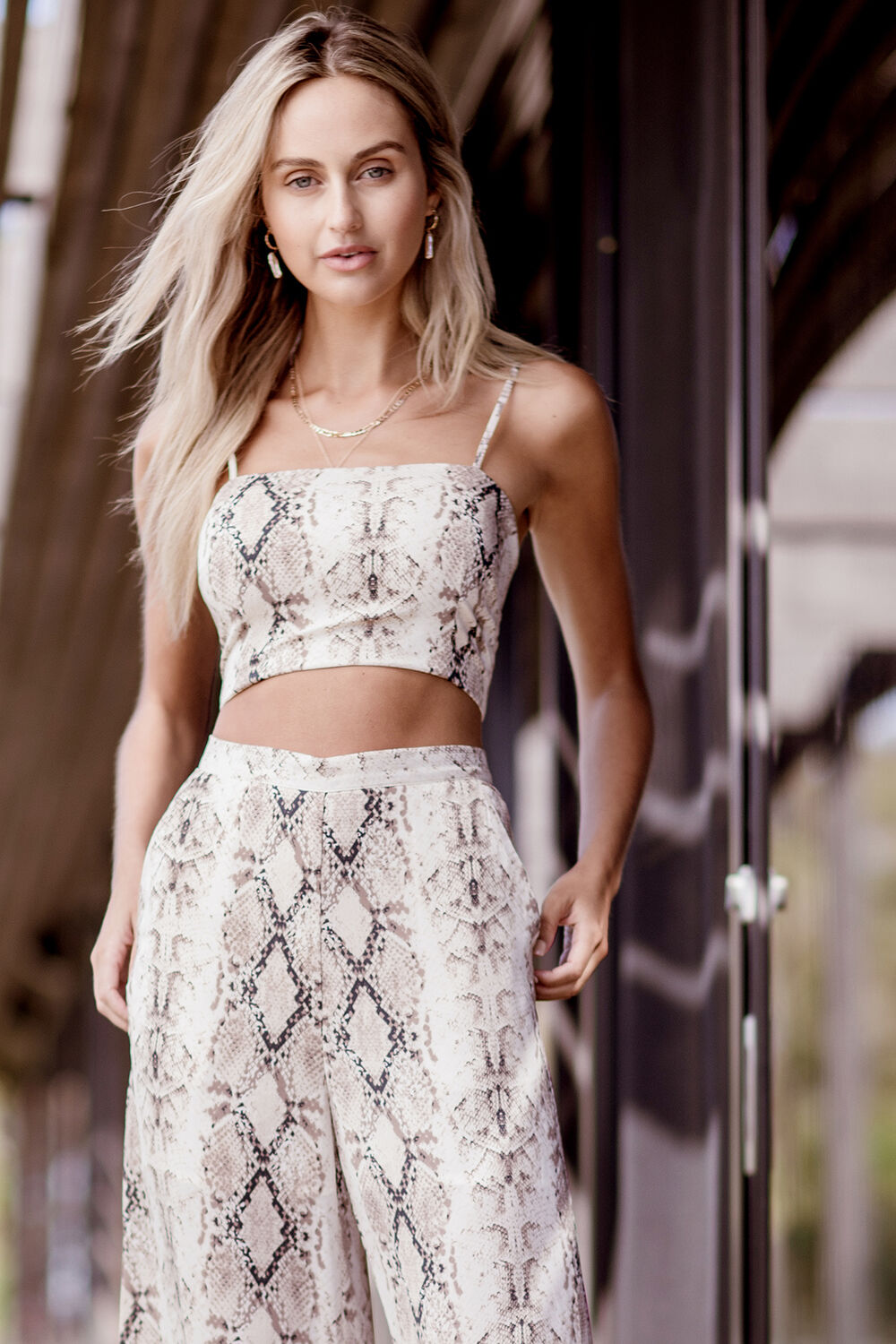 SNAKE PRINT CAMI in colour VANILLA ICE