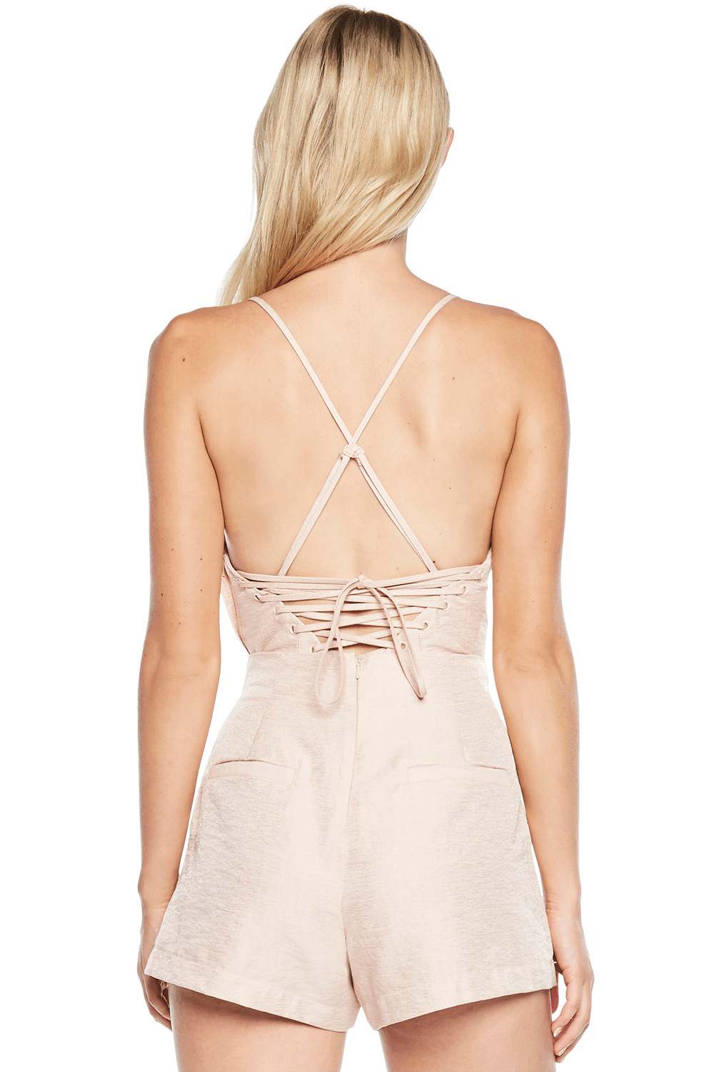 LACE BACK BUSTIER in colour CREAM TAN