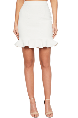 ASHLEY FRILL SKIRT in colour CLOUD DANCER