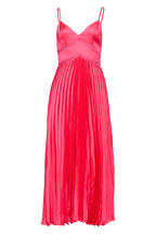 MARY PLEATED DRESS in colour MAGENTA