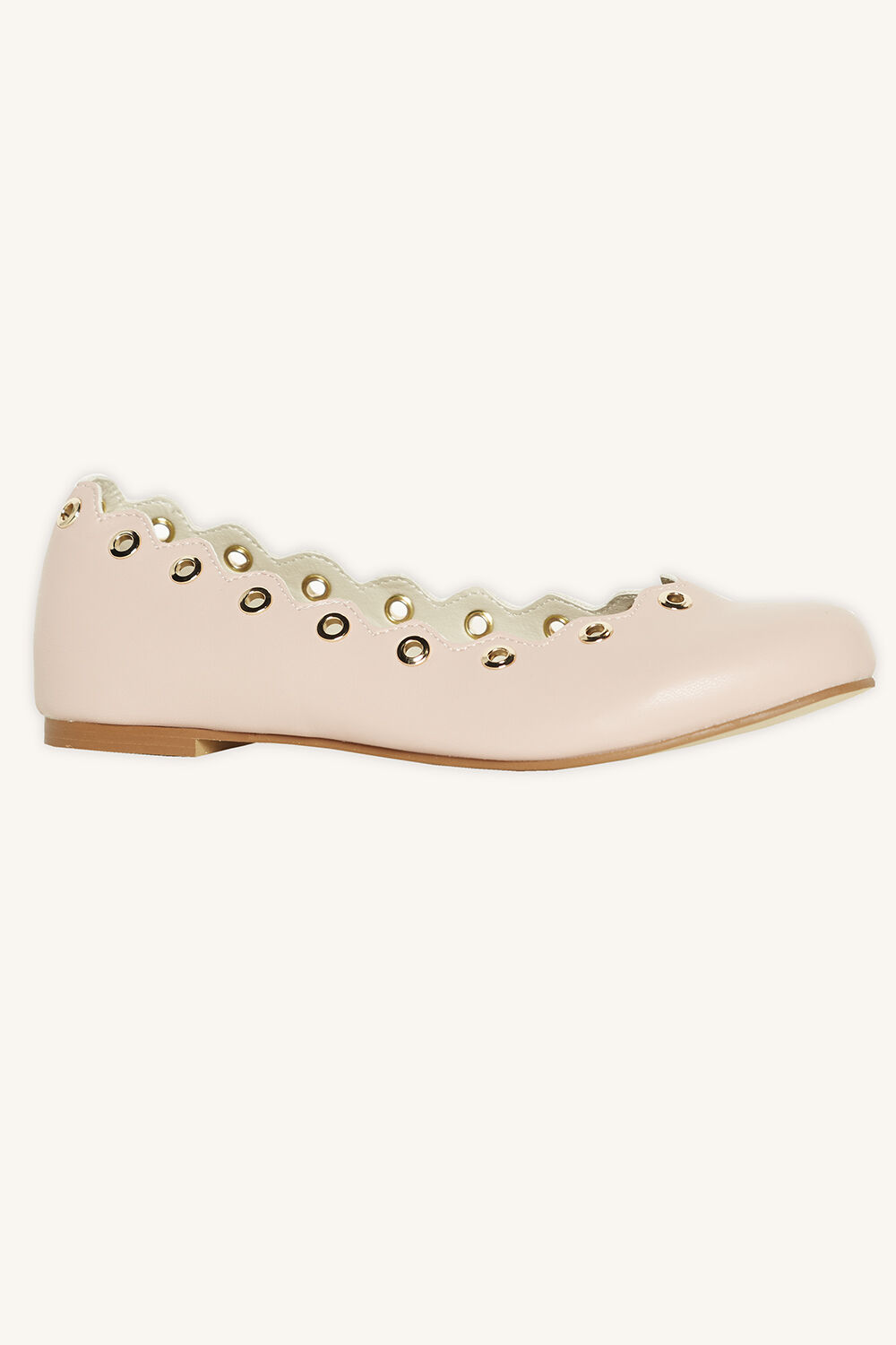 EYELET FLAT in colour PINK CARNATION