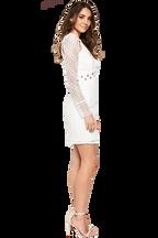 EYLET BRODERIE DRESS in colour CLOUD DANCER
