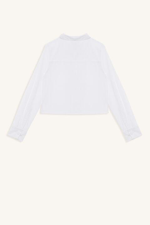 GISELLA CROP SHIRT in colour BRIGHT WHITE