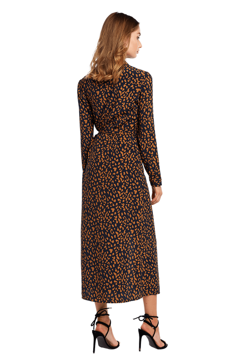 LEOPARD SHIRT DRESS in colour NAVY BLAZER