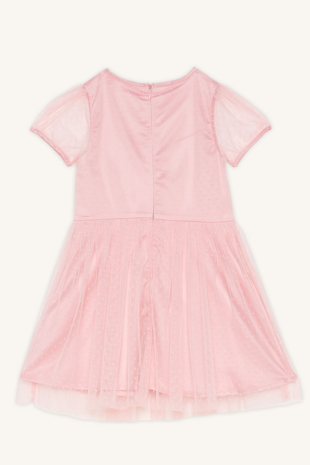 ARIEL MESH DRESS in colour CANDY PINK